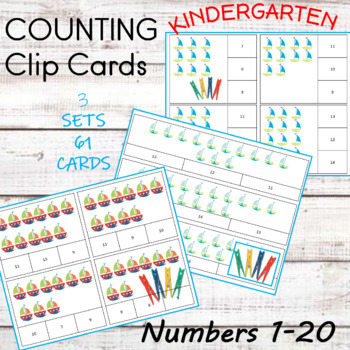 Numbers 1 to 20 Count and Clip Cards