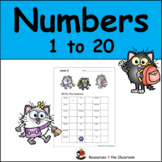 Numbers 1 to 20 - SPED - FIVE Different Levels!