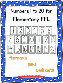 Numbers 1 to 20 Flashcards and more