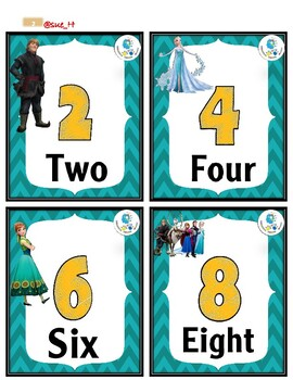 Numbers 1 to 20 - Frozen Theme