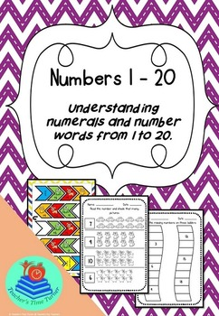 Numbers 1 to 20. Learn to Read and Write numbers.