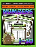 Numbers 1 to 20 - Missing Numbers-Count Forward -Grades 1-2 (1st-2nd Grade)-Easy