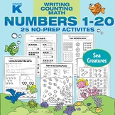 Numbers 1 to 20 No Prep Writing, Counting and Math Activit