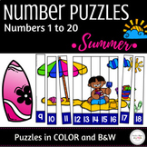 Numbers 1 to 20 Math Center Activity : Number Sequence Puzzles
