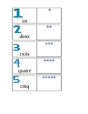 Numbers 1 to 20 flashcards and activities in French