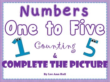 Numbers 1 to 5 Finish the Picture