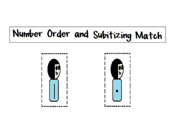 Numbers 1 to 5 Number Order and Subitizing Activity Cards