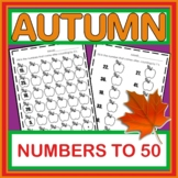 Numbers 1 to 50 Fall Theme