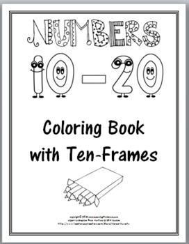 Ten Frames Coloring Book - Numbers 11-20