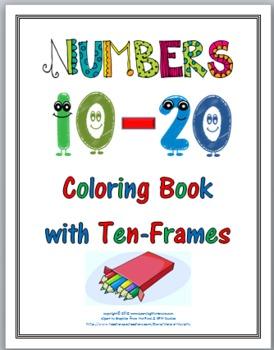 Ten Frames Printables Coloring Book - Numbers 11-20