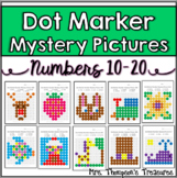 Kindergarten Numbers 10-20 Dot Marker Mystery Picture Activities