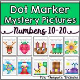 Kindergarten Numbers 10-20 Dot Marker Mystery Picture Activities