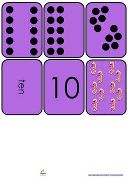 Editable Number flash cards ( 10 - 20 ) Math Games & Tasks for Juniors