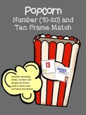 Numbers 10-20 and double ten frames match game - popcorn t