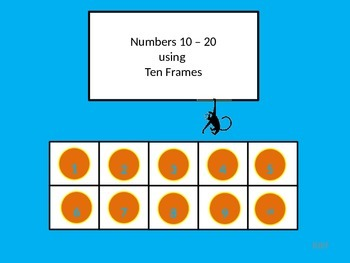 Numbers 10 – 20 using Ten Frames with Student Worksheet