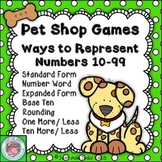 Place Value Games Representing Numbers 10-99 Pets