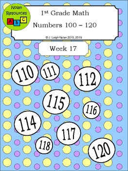 Numbers 100 - 120 - Numbers Packet - Week 17
