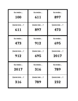 Numbers 100 and over in Portuguese Eu tenho Quem tem