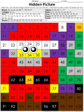 Numbers: 100s Chart Hidden Picture Activity - Christmas Santa and Tree