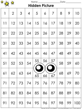 Numbers: 100s Chart Hidden Picture Activity - Martin Luther King Jr.