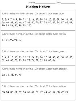 Numbers: 100s Chart Hidden Picture Activity - St. Patrick's Day Leprechaun