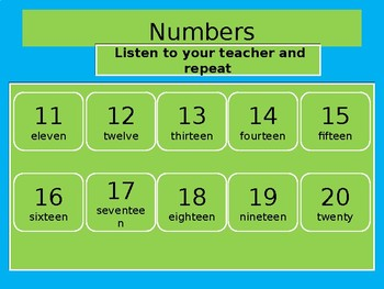 Numbers 11 - 100 TY and TEEN for beginners