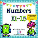 Numbers 11-15 Playdough Mat, Worksheets, Counting Mat, and More
