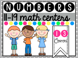Numbers 11-19 Math Centers { Teen Numbers } Color and B&W