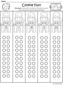 Numbers 11-20 Worksheets (Kindergarten Math)
