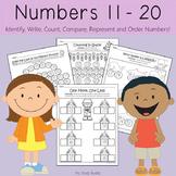 Numbers 11-20 Worksheets (Kindergarten Math, Teen Numbers)
