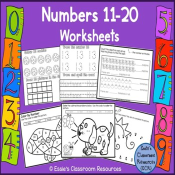 Numbers 11 - 20 Activities