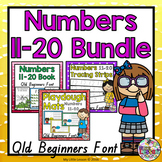 Numbers 11-20 Bundle QLD Beginners Font: Worksheets, Posters, Activities