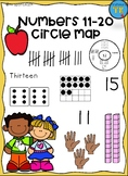 Numbers 11-20 Circle Map
