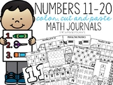 Numbers 11-20 Color, Cut, and Paste Math Journals