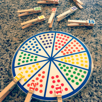 Numbers 11-20 Counting/Matching Wheel