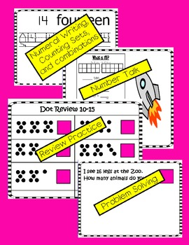 Numbers 11-20: Counting and Cardinality: Number Talk Guide and Common Core