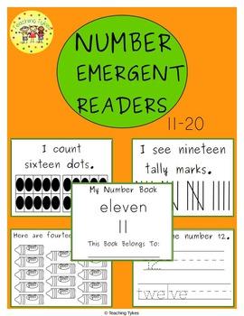 Numbers 11-20 Emergent Readers