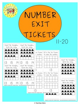 Numbers 11-20 Exit Tickets