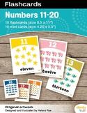 Numbers 11-20 Flashcards / Set of 10 / Printable