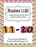 Numbers 11-20 Handwriting and Circle Maps