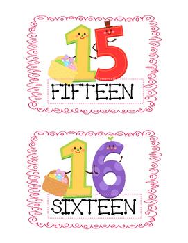 Numbers 11-20/ Happy Easter!! -ESL worksheets