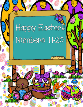 Numbers 11-20/ Happy Easter!! -ESL worksheets