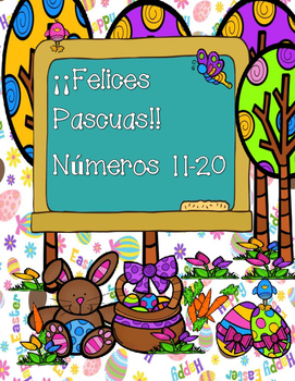 Numbers 11-20/ Happy Easter!!-SPANISH VERSION