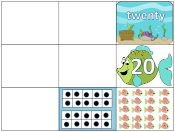 Numbers 11-20 Identifying Numbers Different Ways Math Center Activity
