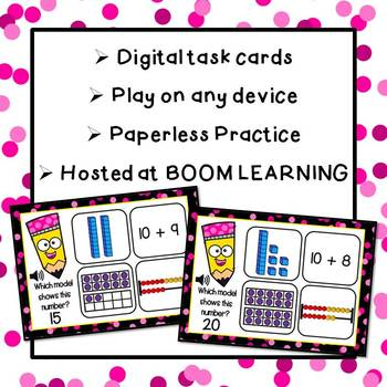Numbers 11-20: Interactive BOOM CARDS (Digital Task Cards=Paperless Practice)
