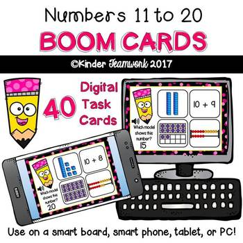 Numbers 11-20: Interactive BOOM CARDS (Digital Task Cards)