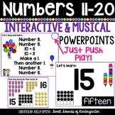Numbers 11-20 Interactive Powerpoints {Number Powerpoints & Songs}