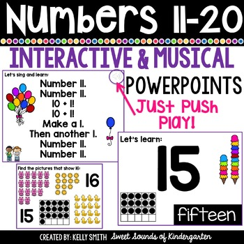 Numbers 11-20 Interactive Powerpoints | Distance Learning