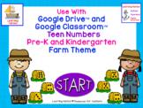 Numbers 11 - 20 Kindergarten Farm theme for Google Drive™