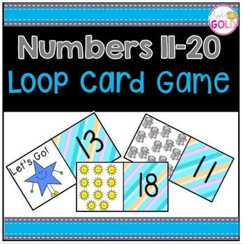 Numbers 11-20 Loop Card Game